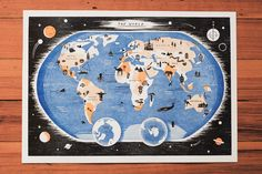 Owen Gatley's letterpress Map of the World on Tiny Showcase (http://tinyshowcase.com/artwork.php?id=1899)