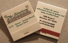 The Stadium Sport Bar. NY. Circa 1998. Japanese produced 24 stem book match. To Order Branded Matches to promote your Business call 800.605.7331 or GoTo: www.GetMatches.com