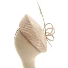 Whiteley Fischer Small Hat With Fine Feather And Twist In Dove - £99.00