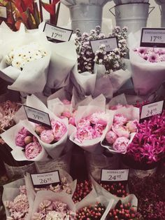 I want fresh bouquets of flowers all the time so I can put them all of my house! I love flowers <3