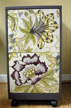 easyyy  Fabric filing cabinet makeover. - Mod Podge Rocks