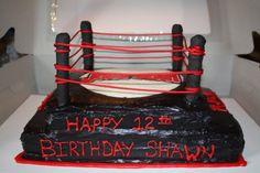 For The WWE Fans, Wrestling ring cake