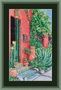 Tucked Away Tucson, counted cross-stitch