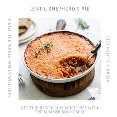 Yum this vegan Lentil Shepard's Pie is to die for . You can find this recipe in our Summer Ready 4 Week Guide! Don't forget that our guide comes FREE when purchasing the Summer Body Pack!  .  www.uniquemuscle.com.au Healthy Eating Habits, Healthy Tips, Macro Meals, Summer Body, Nutrition Plans, Lentils, Gluten Free Recipes, Don't Forget