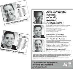 Changer l'image des métiers de la propreté. Campagne pour la FEP. CR/DA : Manifeste