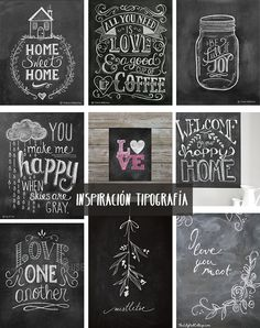 In this DIY tutorial, we will show you how to make Christmas decorations for your home. The video consists of 23 Christmas craft ideas. Chalkboard Lettering, Chalkboard Designs, Chalk Typography, Chalkboard Drawings, Kitchen Chalkboard Quotes, Chalkboard Ideas, Chalk Wall, Chalk Board, Wal Art