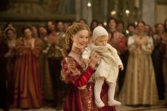 Lady Annaliese with her son Demetri whilst undercover in her sister's court for Areha and Morrigan.