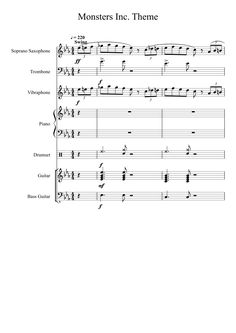 Sheet music made by Trombastian for 7 parts: Soprano Saxophone, Trombone, Vibraphone, Piano, Drumset, Guitar, Bass Guitar