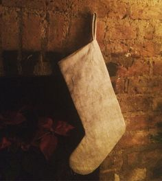 A beautiful high quality linen fabric stocking. Perfect to hand down to someone special