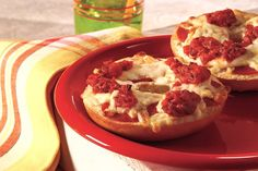 Don't let the kids try to convince you these cheesy pepperoni pizza bagels are only for kids. Instead, tell them only kids can make them—for the grown-ups!