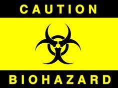 caution biohazard sign