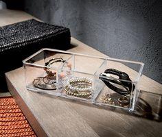 Casier range-bijoux 3 compartiments