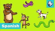 Learn Spanish Animals with BASHO & FRIENDS - Aprende Animales - YouTube