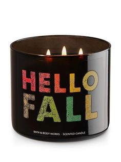 """Bath & Body Works - """"Leaves"""" 3-Wick Candle"""