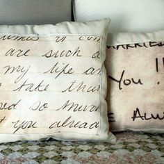 HOW TO CREATE A LOVE LETTER PILLOW