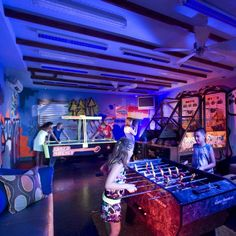 Definantly need black lights in our game room! ... Teen arcade at Beaches Negril, Jamaica