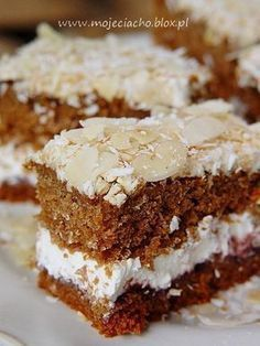 """Babie lato"" Polish Desserts, Polish Recipes, Sweet Recipes, Cake Recipes, Dessert Recipes, Cake Cookies, Sugar Cookies, Honey Buns, Sandwich Cake"