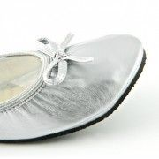Silver Patent Flat Shoes