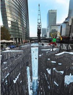 World's Longest & Largest 3D Street Art  (Click image for full post and [VIDEO]