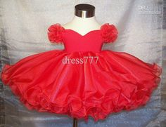 babydoll pageant dresses for toddlers | ... Most Popular National Pageant Red Babydoll Shell Hot flower girl dress