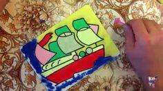 "Картинка из цветного песка ""Кораблик"". Subscribe http://bit.ly/21luDi8"
