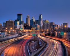 A big hello to America's twin cities, Minneapolis and Saint Paul, Minnesota. Minneapolis Skyline, Minneapolis St Paul, Minneapolis Minnesota, Great Places, Places To Visit, Magnet, Twin Cities, Best Cities, E Bay