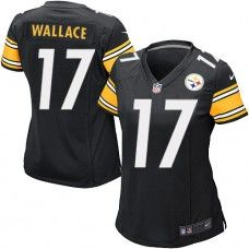 NFL Womens Limited Nike Nike  Pittsburgh Steelers #17 Mike Wallace  Team Color Black Jersey $79.99