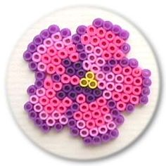 Pansy hama perler beads