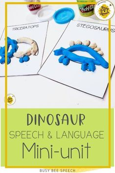 Learn all about Dinosaurs in speech therapy with this activity!
