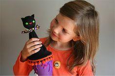 halloween pop-up cone puppet tutorial
