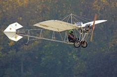 Santos Dumont - Brazilian inventor of the Demoiselle (the first ultralight aircraft) - Demoiselle replica