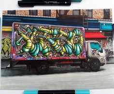 Our 100th post presents @turbo_art_  from  He was one of the most popular participants of #graphmaster sketch battle