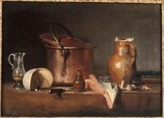 Jean-Siméon Chardin, Slice of Salmon (Tranche de saumon), c. 1730, oil on canvas, 27 x 37 cm, Musée Granet