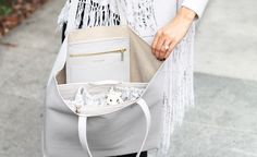 ToteSavvy - Soft Grey - Diaper Bag Alternative