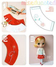 DIY Blythe Skirt by amberrenée.com