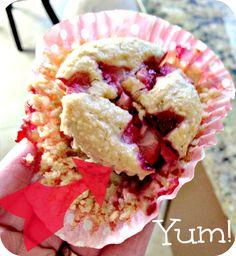 Strawberry Banana Oatmeal Muffins!