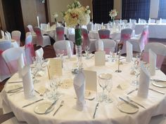 The Westerwood Hotel & Golf Resort table settings #TheWesterwood #Weddings #QHotels