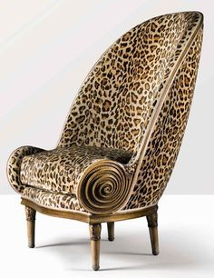 iconic 1913 Nautilus chair by French designer and illustrator Paul Iribe (1883–1935)