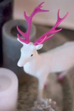 Painted Deer #merry #kitch #kitchy #kitchmas #christmas #holiday #xmas #decor #vintage #retro #deer #painted #DIY #idea #decor #decoration #ornament #reindeer #upcycle #figurine #toy #plastic
