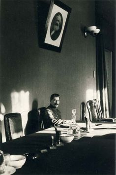 Joseph Stalin (1879 - 1953)  Dinner alone. When there is no one left to kill.