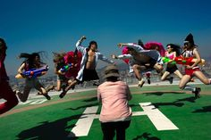Dangsters, a hip-hop dance group based in Kunming, Yunnan Province, China, performs for a commercial video shoot, March 13, 2015.