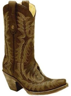 Corral Boots Western Wear Fashion Chocolate Stitched Vamp and Tube G1902 Cowboy Boots #cowgirlboots
