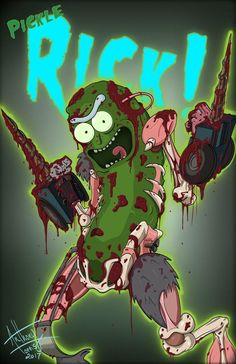 Rick And Morty Quotes, Rick And Morty Poster, Pickle Rick Tattoo, Ricks Tattoo, Rick I Morty, Ricky And Morty, My Favorite Image, Graffiti Art, Cartoon Art