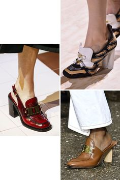 From platform heels to lace-up shoes and heeled loafers, these are the 7 biggest shoe trends of Toe Ring Sandals, Sexy Sandals, White Sandals, Heeled Loafers, Leather Loafers, Loafers Men, Next Shoes, Shoes Too Big, Crocs Boots