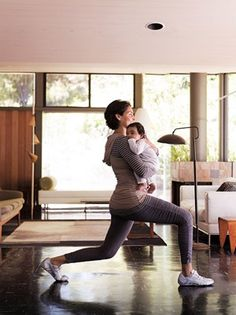 Quick exercises with baby: I've been doing these everyday with my 3 month old and wow are they effective.