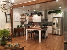 Urban farmhouse kitchen - Cottage kitchens - Urban kitchen - Farmhouse kitchen decor - Home kit , Farm Kitchen Ideas, Red Kitchen, Farmhouse Kitchen Decor, Home Decor Kitchen, Kitchen Design, Kitchen Layout, Kitchen 2016, Cottage Kitchens, Home Kitchens