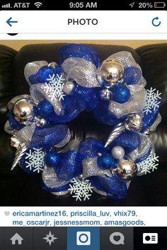 Dallas Cowboys themed mesh wreath
