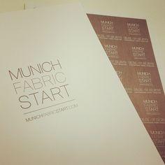 Danke für die Unterlagen, Munich Fabric Start! Freuen uns schon. #Messe #fashion #shows #accessoires #knöpfe #zutatenmesse See you in #munich