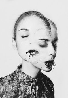 Though she is known for her work in fashion photography, the fine art photography of the Madrid-based Rocio Montoya offers a interesting new look at her skills in portraiture. Photomontage, Experimental Photography, A Level Art, Double Exposure, Oeuvre D'art, Photo Manipulation, Art Inspo, Collage Art, Portrait Photography