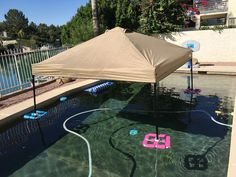 Canopy/Gazebo float for the pool or lake for cheap